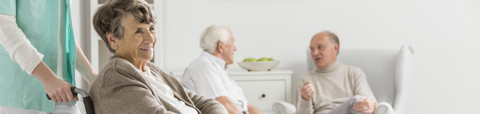 woman in wheelchair - dementia care